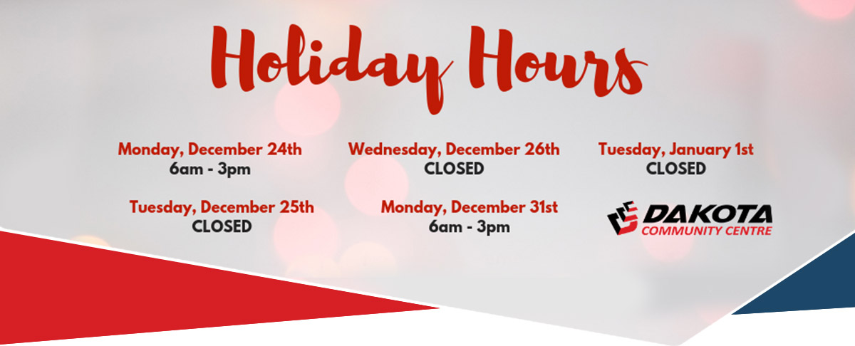 DCC Holiday Hours
